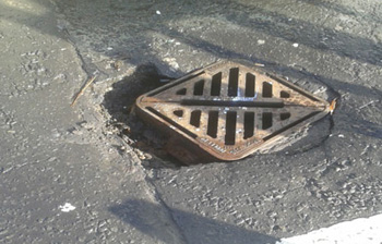 Drain cover before