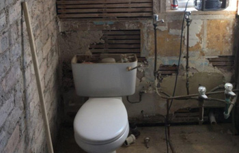 Toilet prior to refurbishment - C Hanlon Bathrooms