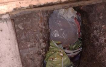 Rubbish chute blockage