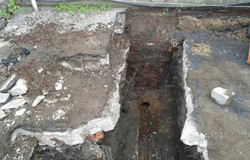 Excavation for main sewer Glasgow
