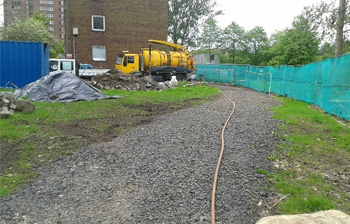 Main sewer work near completion