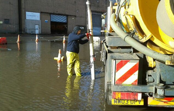 Clearing mains blockage Coatbridge