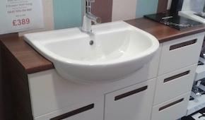 C Hanlon Bathrooms Strada Walnut Rak Semi Basin