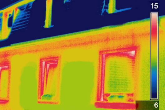 Thermal imaging of house