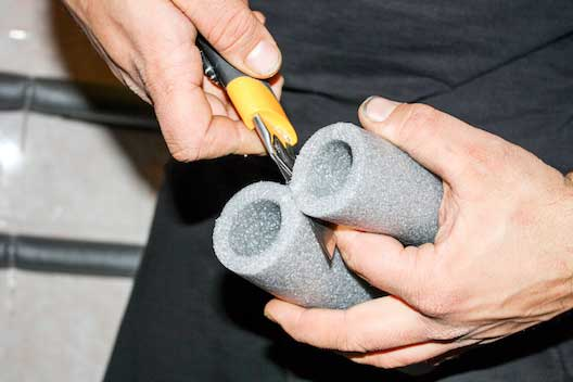 Foam insulation for pipes