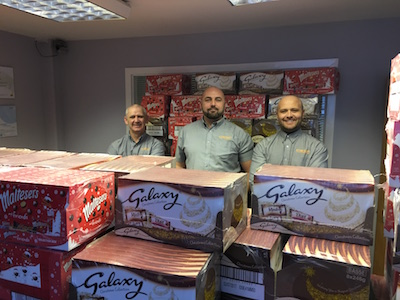 C Hanlon Christmas charity selection box donations