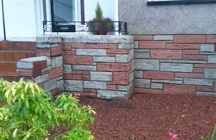 Wall after power washing, Newton Mearns, Glasgow