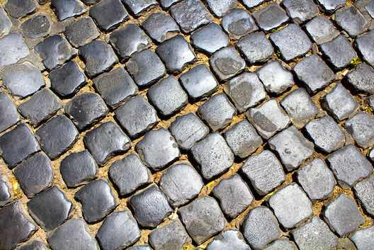 Block paving cobbles