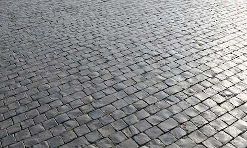 Block paving road
