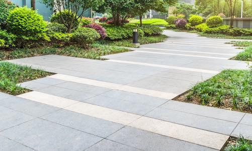Public walkway flagstone paving