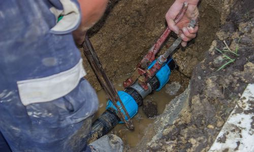 water mains repair
