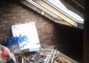 attic space before conversion