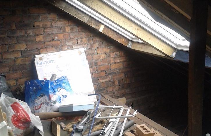attic space before conversion