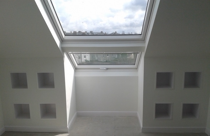 attic conversion with window