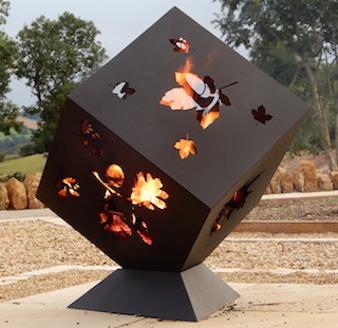Burley Leaf Garden Fire Cube Outdoor Fire