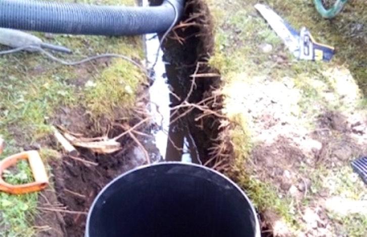 Field Drain Installation initial excavation