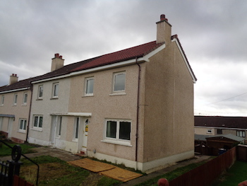 Fire damaged house roof repaired